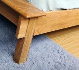 Camas dobro modernas da cama de madeira contínua (M-X2241)