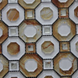 Venda a quente marítimas de Forma Irregular Mosaico de vidro decorativo para a sala de estar