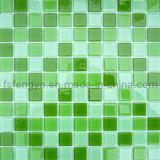 A cor verde-primavera de ladrilhos, mosaicos de vidro 25x25mm mosaicos de vidro, Foshan Mosaico mosaico de cores misturadas