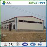 Amplia gama de acero de la luz de la estructura de almacén taller prefabricados