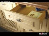 Disegno antico di legno solido 2017 dell'armadio da cucina di Welbom