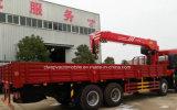 8X4 12 바퀴 망원경 기중기 트럭은 판매를 위한 기중기 16 톤으로 거치했다