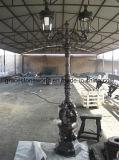 Lámpara de calle de hierro fundido, lámpara de jardín de fundición de hierro