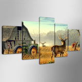 Canvas Paintings Living Room barrier kind Framework hp print 5 Pieces Animal Whitetail Deers poster Home Decor farm House Pictures