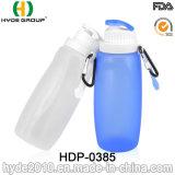 320ml BPA는 휴대용 실리콘 Foldable 스포츠 물병을 해방한다