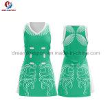 Netball команды Bodysuit форм Cheerleading рубашки полиэфира Spandex нового продукта изготовленный на заказ