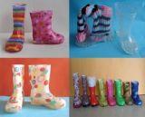 2018 Nouvelle mode des chaussures de pluie en PVC, Kid Bottes de pluie, Kid Bottes transparent