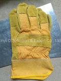 La Chine gants de soudure bon marché de sûreté de cuir fendu de vache à 10.5 pouces