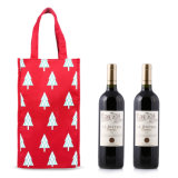 Impresión en tela de algodón Bolsa vino, vino de regalo bolsa