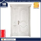 Feste hölzerne Eingangs-Sicherheits-Doppelt-Blatt-Eintrag-außentür