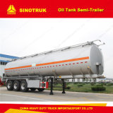 remorque de pétrolier du Tri-Essieu 70cbm/4000 litres de semi-remorque de réservoir de carburant