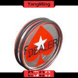 부지깽이 테이블 게임 2 측 (YM-DR02)를 위한 투명한 심혼 택사스 Holdem 전용 상인 단추