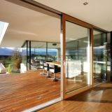 Высококачественный алюминиевый Lift-Sliding двери с отделкой из закаленного стекла