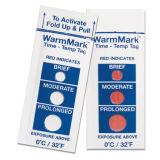 Chaîne de froid Warmmark Indicateur de température de l'heure Temp. Autocollant thermique