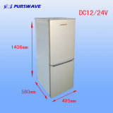 Congelador da porta dobro do refrigerador do veículo do refrigerador de Purswave Bcd-178 178L DC12V24V48vsolar e compressor do refrigerador que Refrigerating para o automóvel do barramento do motor do carro