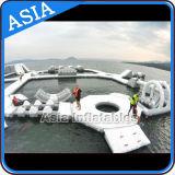 膨脹可能な浮遊水公園、水ゲームのための膨脹可能な水遊園地
