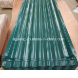 現代波形の金属の屋根ふきはカラーによって塗られる電流を通された屋根シートを広げる