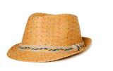 El papel de paja trenza sombrero Fedora