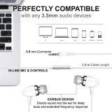Kopfhörer verdrahteten Kopfhörer-Handfreie Kopfhörer mit aufgebaut im Mic-Mikrofon und auf weg von Taste für Asus Zenfone 4 PRO2017