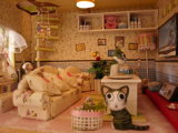 DIY 교육 장난감을%s 가진 나무로 되는 인형 집 가구 집 거실