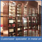 現代Pacticalのステンレス鋼のローズの金のワイン貯蔵室のホテルの家具