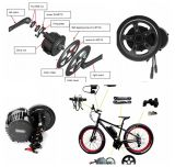 500W Bafang ágil 8fun Ebike Media Center Motor con batería de litio