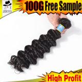 Extension de cheveux d'onde profonde de 10un Brésilien sèche