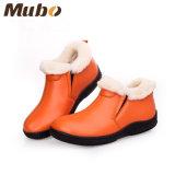 Handgemachter warmer Winter-Schaffell-Pelz-beiläufige Schuhe für Frauen