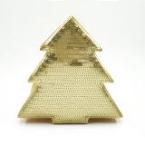 Contenitore di imballaggio del documento del Sequin del secchio del cartone del regalo dell'albero di Natale