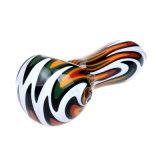 Pipa vidrio cristal de la mano peluca del tubo de vidrio del tubo de cuchara wag