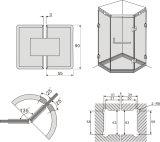 [فس103-135] 135 درجة هيدروليّة غرفة حمّام مفصلة زجاج مشبك