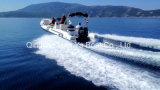 Barca della nervatura della guardacoste della barca di velocità del peschereccio di Liya 150HP