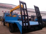 Sinotruk HOWO 낮은 평상형 트레일러 트럭 8X4 장비 수송 트럭
