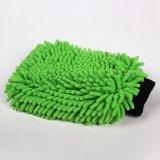 Перчатка 100% мытья автомобиля полиэфира с сеткой (перчатки синеля)