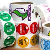 고급 제품 색깔 접착성 라벨 스티커