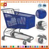 Haltbare grosse Capavity PlastikPlastomer Supermarkt-Einkaufswagen-Laufkatze (Zht99)