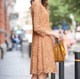 Form-Frauen-Kleid mit Spitze