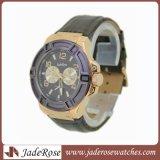 Reloj de acero inoxidable Reloj de cuero de moda ver deportes ver