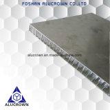 Panneau en aluminium de nid d'abeilles de fini de moulin pour le placage en pierre composé