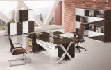 Forma de X Patas de metal melamina chapa Senior Manager de mesa ejecutiva