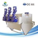 廃水のプラント手回し締め機の脱水機の沈積物の排水