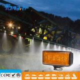 Novo 20W LED âmbar de caminhão trator colhedora luz de nevoeiro de trabalho