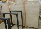 China madera ligera losa de mármol blanco de madera