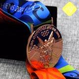 Gli sport di alta qualità che eseguono l'oro assegna le medaglie in lega di zinco su ordinazione