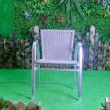 屋外のテラスのホームホテルのオフィスの庭の藤のアルミニウム酸化椅子(J838)