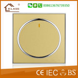 Interruptor eléctrico de la pared del botón grande 1gang 1way
