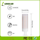 Bombilla justa natural 3-Mode del color LED que chasquea el bulbo de la llama de 2W G4 LED