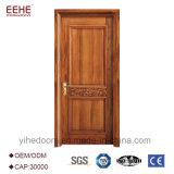Porte chaude en bois solide de bois de construction de type de l'Europe de vente