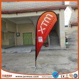 Рекламировать напольный флаг пляжа пера с основанием X-Креста