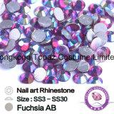 Ss20 het Fuchsiakleurig Bergkristal van het Glas van het Bergkristal Hotfix van Ab niet Vlakke Achter (ER03)